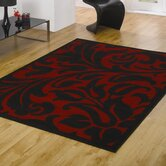 Element Warwick Red / Black  Contemporary Rug/Runner