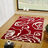 Decotex Allegro Red/White Rug