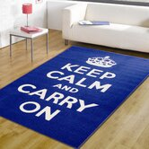 Matrix Themes Carry On Blue/White Novelty Rug