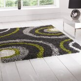 Nordic Equator Lime Green/Steel Shag Rug