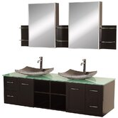 Avara 72&quot; Wall-Mounted Bathroom Vanity Set