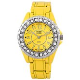 Women's Time's Up Watch in Yellow