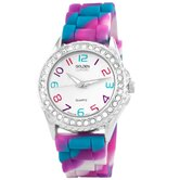 Women's Colors Galore Silicone Band Watch in Multi