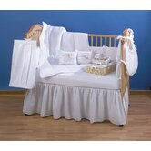 Pique Crib Bedding Collection in White