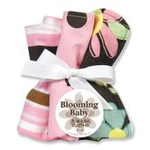 Blossoms Five Piece Terry Wash Cloth Set