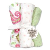 Paisley Four Piece Terry Burp Cloth Set