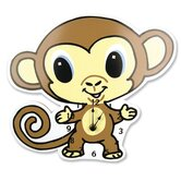 Chibi Zoo Monkey Wall Clock