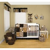 Bubbles Brown Crib Bedding Collection