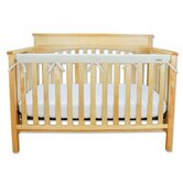Long Fleece Crib Wrap Narrow Rail Cover in Natural