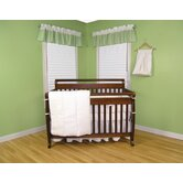 Pique Four Piece Crib Bedding Set in White