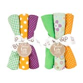 6 Piece Jelly Bean Burp Cloth Set