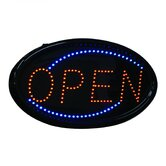 Hanging Oval LED Open Sign