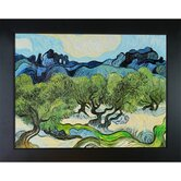 Olive Trees with the Alpilles in the Background Canvas Art by Vincent Van Gogh Modern
