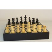 Black French in Chest Chess Set