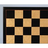 "17"" Black and Birdseye Maple Veneer Chess Board"