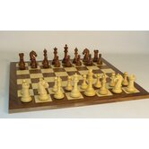 Sheesham Camelot on Walnut Chess Board