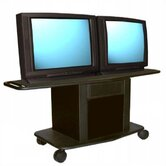 Acero Series 32&quot; Tall Metal Cart - Holds up to two 32&quot; monitors
