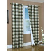 Mansfield Check Grommet Top Curtain Pairs