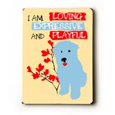 "Loving Expressive and Playful Wood Sign - 12"" x 9"""