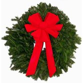 "Fresh Fraser Fir Wreath - The ""Red Baron"" -  24"" -26"" (diam.)"