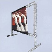 "Twin-Vu Porta-Fold Rear Projection Complete Screen Kit - 6' 8"" x 6' 8"" AV Format"