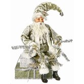 Sitting Wintergreen Santa Figurine