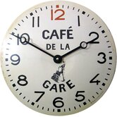 Convex Tin Caf&eacute; de la Gare Wall Clock
