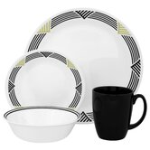 Livingware Global Stripes 16 Piece Dinnerware Set