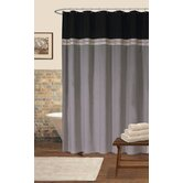 Terra Shower Curtain in Black / Silver