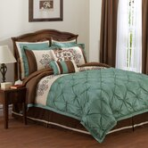 Abigail Bedding Collection in Sea Green