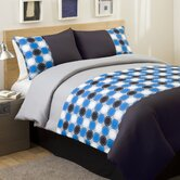 Mod Print Comforter Set in Teal / Gray