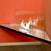 Corner Flame Fireplace