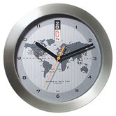 GMT Wall Clock with World Map