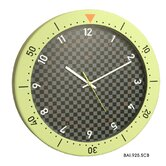 Speedmaster Wall Clock in Chartreuse and Black