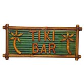 Natural Bamboo Tiki Bar Sign