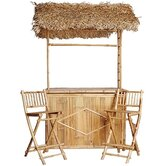 Bamboo 3 Piece Tiki Bar
