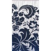 Black and White Floras Curtain