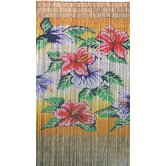 Tropical Flowers Curtain