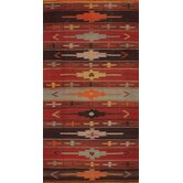 Kilim Medallion Multi-Colored Striped Rug