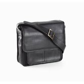 Vachetta Executive Laptop Sling Briefcase in Black