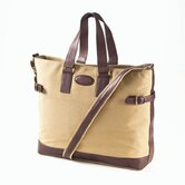 Canvas Everyday Tote with Café Leather Accents