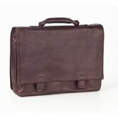 Tuscan Flap Briefcase in Café