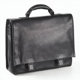 Tuscan Flap Briefcase in Black