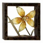 Cosmopolitian Square Metal Floral Wall Décor