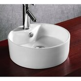 "15.12"" X 5.39"" Round Single Hole Bathroom Vessel Sink"