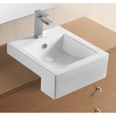 Ceramica II Semi Recessed Bathroom Sink