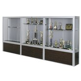 Premiere Freestanding Display Case with Wood Floor Base