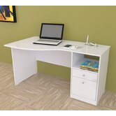 Laura Curved Computer Desk with Shelf