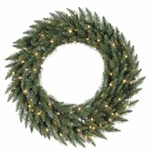 Camdon Fir 72&quot; Wreath with Clear Lights