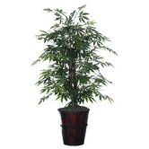 Deluxe 4' Artificial Potted Natural Japanese Maple Tree in Light Green